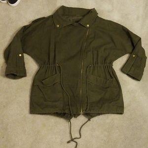 Asos Petite olive green utility jacket 4